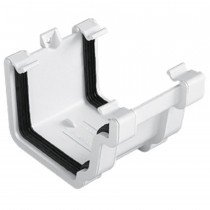 Plastic Guttering Universal Plus - Union Bracket - 128mm - Black