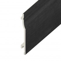 UPVC Shiplap Cladding Board - 125mm - Black Ash (5m)