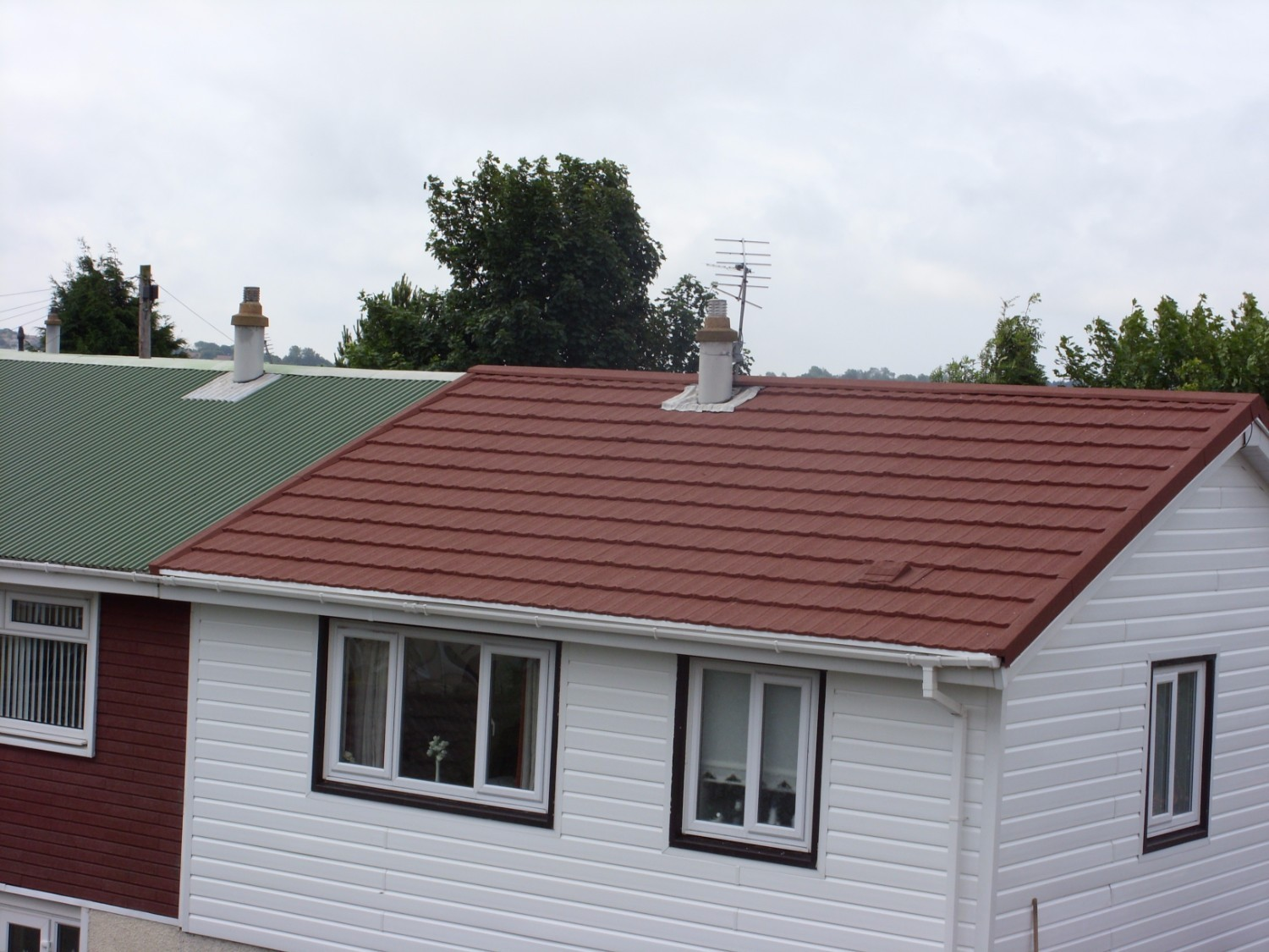 Lightweight Metal Roof Tiles on Houses