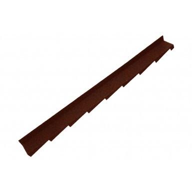 Britmet - Plaintile - Right Hand Side Wall Flashing - Rustic Terracotta (1250mm)
