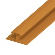 UPVC Shiplap Cladding - Joint Trim - 125mm - Oak (5m)