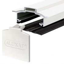 Alukap-XR - Aluminium Hip Bar with End Cap - White