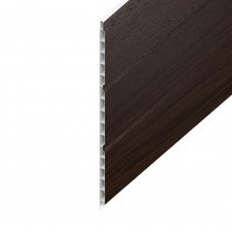 Hollow UPVC Soffit Board - 300mm x 9mm - Rosewood (5m)