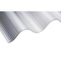 "Corolite CST Iron - 3"" Twinwall Corrugated Polycarbonate Sheet"