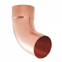 Lindab Natural Copper Guttering - Downpipe Bend with Socket