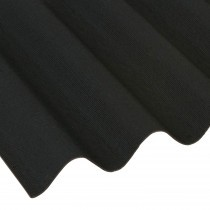 Coroline - Corrugated Bitumen Roof Sheet - Black (2000 x 950mm)