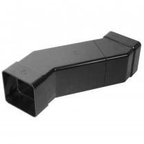 Plastic Guttering - Adjustable Offset Square - Black