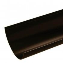 Plastic Guttering Half Round - 114mm x 51mm - Brown
