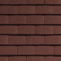 Sandtoft Standard Plain Tile - Concrete Tile - Sandfaced Mottled Red