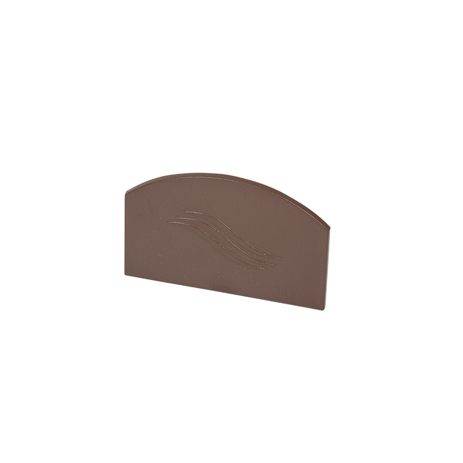 Corotherm - 25mm Polycarbonate Sheet Glazing Bar End Caps - Brown
