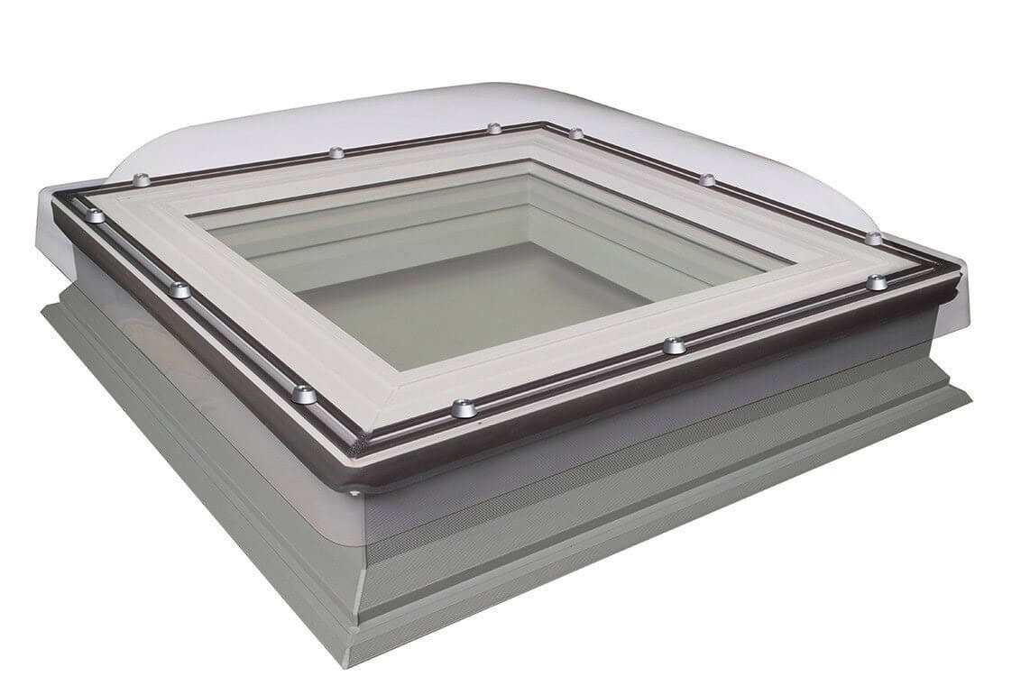 Fakro Flat Roof Window - Domed and Non-Opening  - Laminated Double Glazing [DXC-C P2]