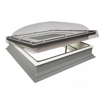 Fakro Flat Roof Window - Domed and Electric Opening - Passive Quadruple Glazing [DEC-C U8]