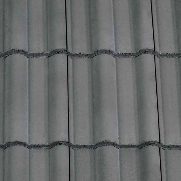 Redland 50 Double Roman Concrete Tile Smooth Slate