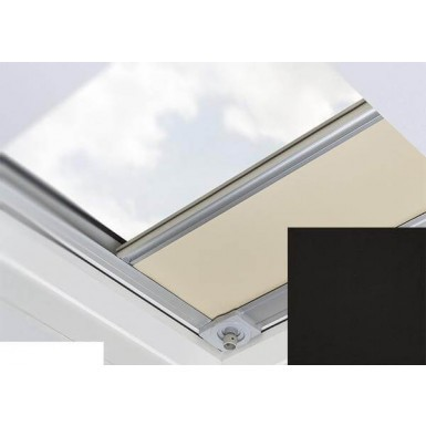 Fakro - ARF/D II 226 - Flat Roof Manual Blackout Blind - Black