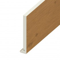 Fascia UPVC Board - Plain - Irish Oak (5m)