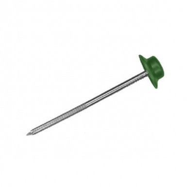 Onduline - Corrugated Bitumen Roof Sheet Fixings - Green (Pack of 20)