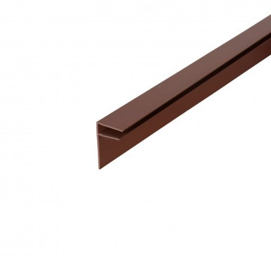 Corotherm - 10mm Polycarbonate Sheet Side Flashing -  Brown (6m)