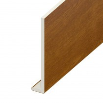 Fascia UPVC Capping Board - Plain 200mm x 9mm - Golden Oak (5m)