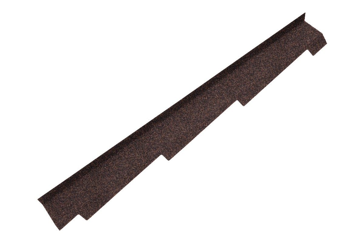 Britmet - Right Hand Side Wall Flashing - Rustic Brown (1250mm)