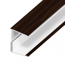 UPVC Shiplap Cladding - Edge Trim - 125mm - Rosewood (5m)