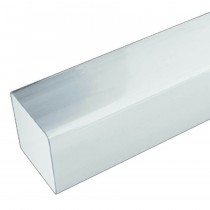 Plastic Guttering Squareline - Down Pipe - 65mm - White (4m)