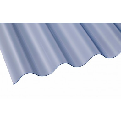 Vistalux PVC Corrugated Sheet - ASB 3 BS Superweight - Clear