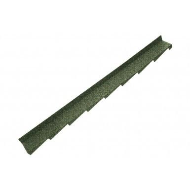 Britmet - Plaintile - Right Hand Side Wall Flashing - Moss Green (1250mm)