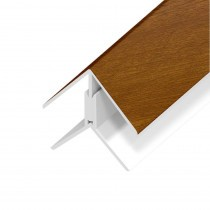 UPVC Shiplap Cladding - Angle Trim - 125mm - Golden Oak (5m)