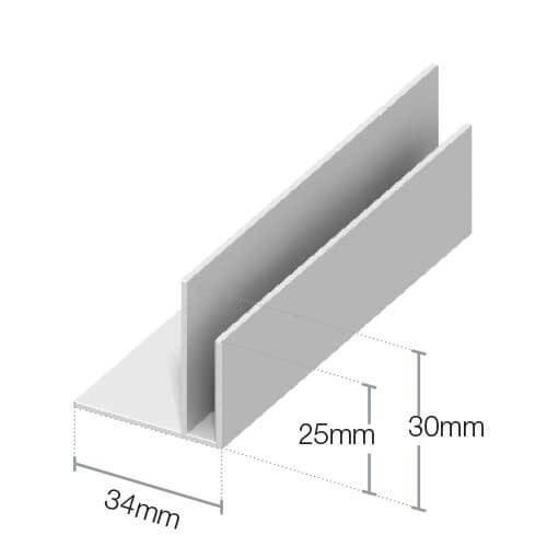 upvc shiplap cladding edge trim 125mm white 5m. Black Bedroom Furniture Sets. Home Design Ideas