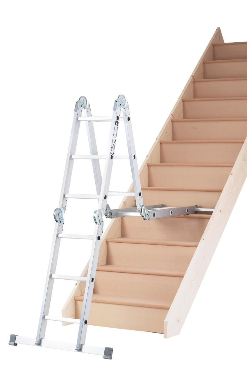 Ladder used on Confined Stairs