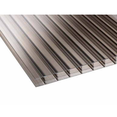 Corotherm 16mm - Triplewall Polycarbonate Sheet - Bronze (2000x2100x16mm)