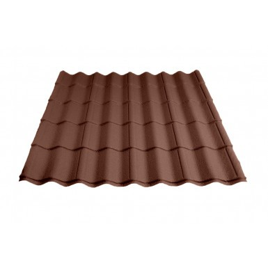 Britmet - Pantile 2000 - Tile Effect Sheet - Made to Measure - Terracotta (0.9mm)