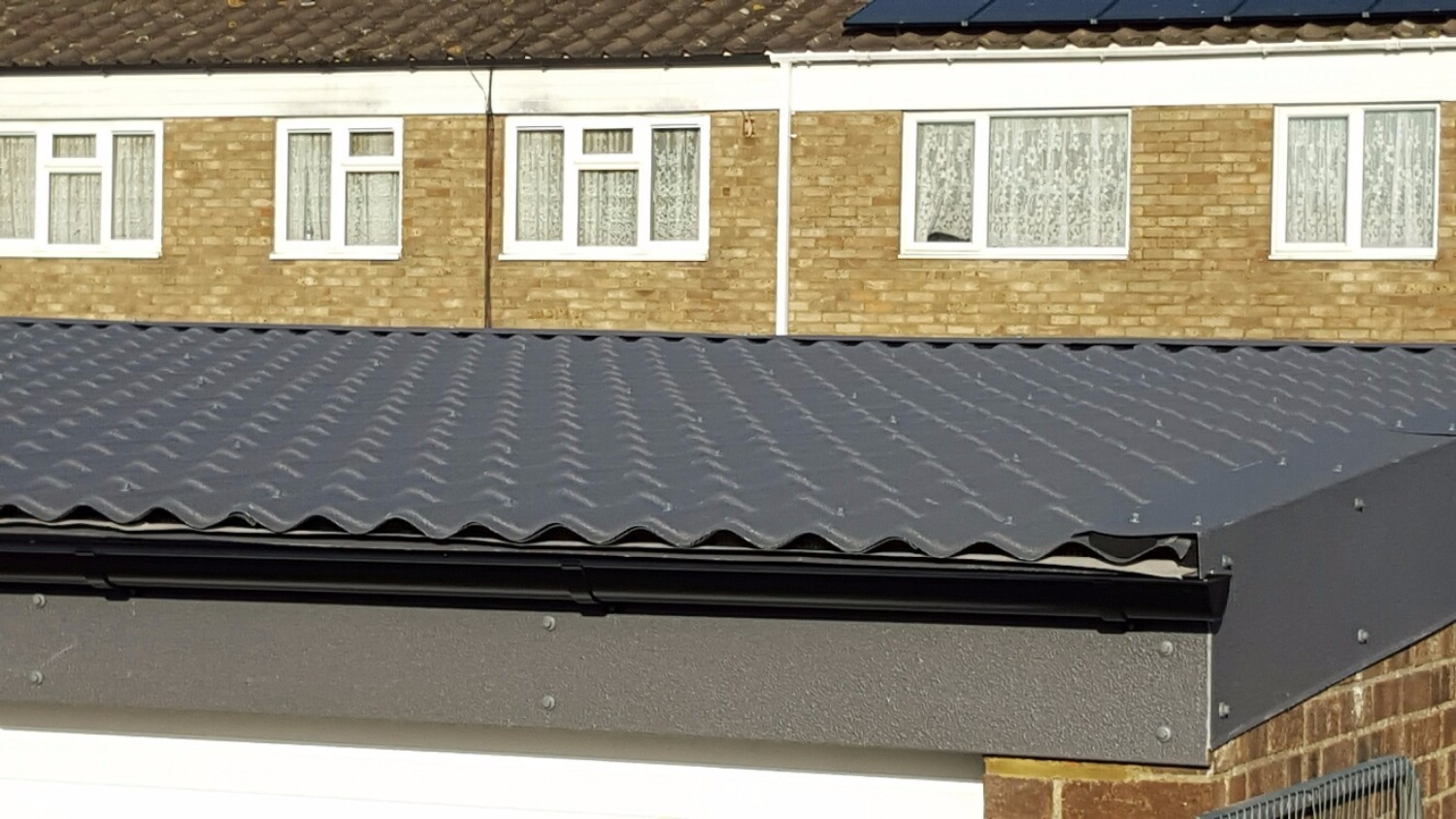 Made to Measure Metal Roof Sheets on Garage