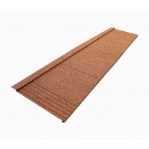 Britmet - Lightweight Metal Roof Shingle - Rustic Terracotta (Line of Test)