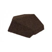 Britmet - Lightweight Metal Roof Shingle - Slimline End Cap 90 - Rustic Brown