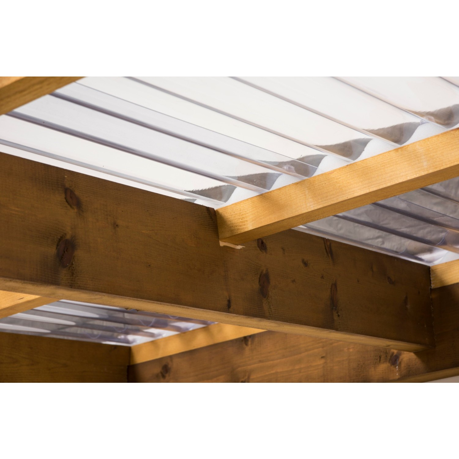 heavyweight *Clear* Pvc Corrugated Sheet 3inch Profile 1.1mm thick