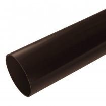 Plastic Guttering Half Round - Down Pipe - 65mm - Brown (2.5m)