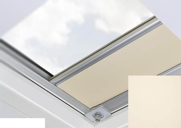 Fakro - ARF/D II 053 Z-Wave - Flat Roof Electrically Operated Blackout Blind - Cream