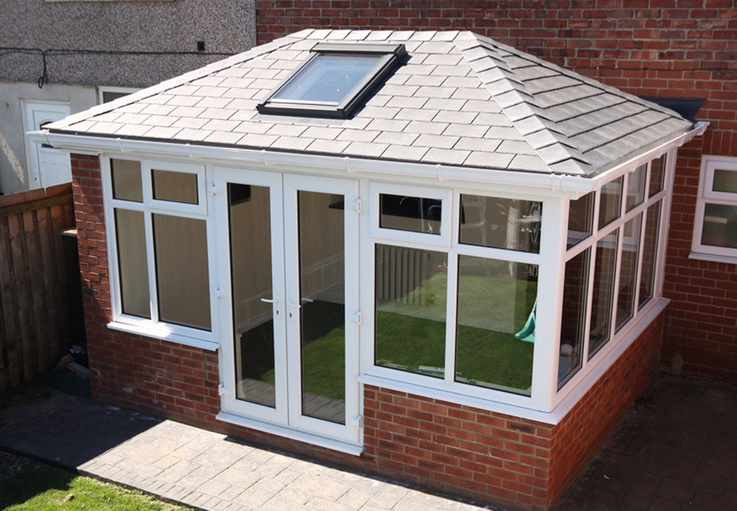 Synthetic Plastic Slate Effect on Conservatory
