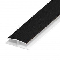 Soffit Board Panel Joint - 40mm - Black Ash (5m)