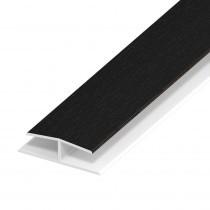 Soffit Board Panel Joint - 40mm - Black Ash (5m)