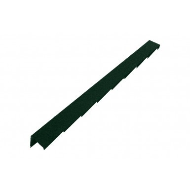 Britmet - Plaintile - Right Hand Barge - Tartan Green (1250mm)