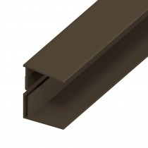 UPVC Shiplap Cladding - Edge Trim - 125mm - Dark Brown (5m)