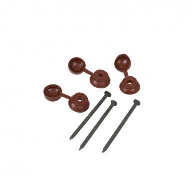Coroline - Corrugated Bitumen Roof Sheet Fixings - Brown (Pack of 20)