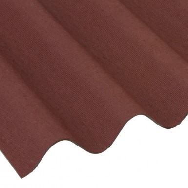 Onduline - Red Corrugated Bitumen Roof Sheet (2000 x 950mm)