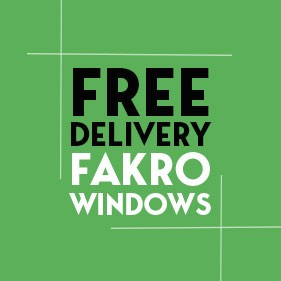 Free Delivery on Fakro Windows