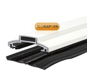 Vertical glazing bar for polycarbonate roof panel