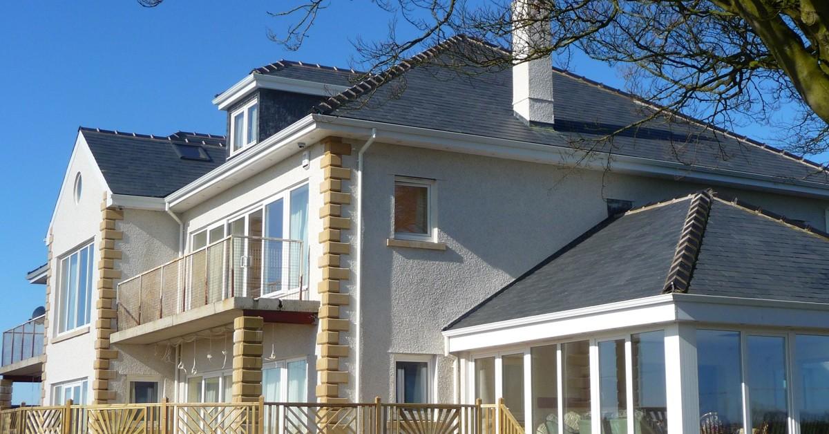 Slate Roof Tiles on Luxury Home