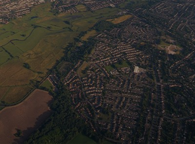 Birds Eye View of Roofs in england
