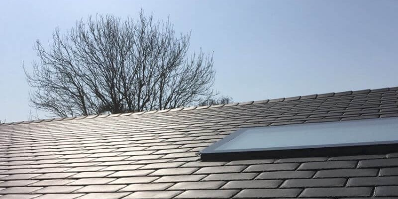 britmet liteslate roof with roof window